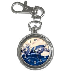 Antarctica Mountains Sunrise Snow Key Chain Watches
