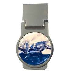 Antarctica Mountains Sunrise Snow Money Clips (Round)