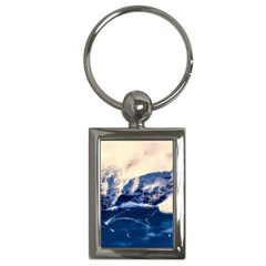 Antarctica Mountains Sunrise Snow Key Chains (Rectangle)
