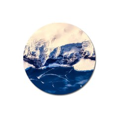 Antarctica Mountains Sunrise Snow Magnet 3  (Round)