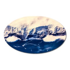 Antarctica Mountains Sunrise Snow Oval Magnet