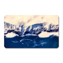 Antarctica Mountains Sunrise Snow Magnet (Rectangular)