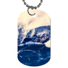 Antarctica Mountains Sunrise Snow Dog Tag (One Side)