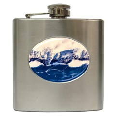 Antarctica Mountains Sunrise Snow Hip Flask (6 oz)