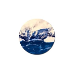 Antarctica Mountains Sunrise Snow Golf Ball Marker