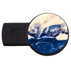 Antarctica Mountains Sunrise Snow USB Flash Drive Round (2 GB)