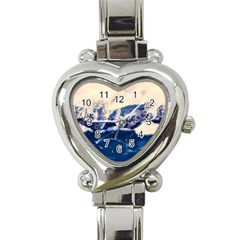 Antarctica Mountains Sunrise Snow Heart Italian Charm Watch