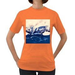Antarctica Mountains Sunrise Snow Women s Dark T-Shirt