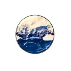 Antarctica Mountains Sunrise Snow Hat Clip Ball Marker