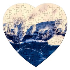 Antarctica Mountains Sunrise Snow Jigsaw Puzzle (Heart)