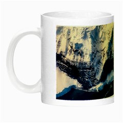 Antarctica Mountains Sunrise Snow Night Luminous Mugs