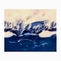 Antarctica Mountains Sunrise Snow Small Glasses Cloth