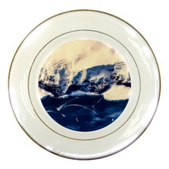 Antarctica Mountains Sunrise Snow Porcelain Plates