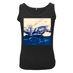Antarctica Mountains Sunrise Snow Women s Black Tank Top