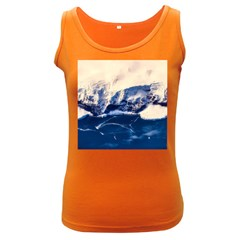 Antarctica Mountains Sunrise Snow Women s Dark Tank Top