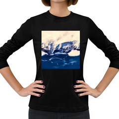 Antarctica Mountains Sunrise Snow Women s Long Sleeve Dark T-Shirts