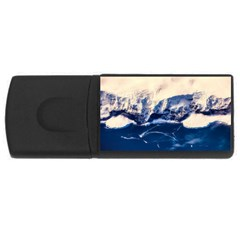 Antarctica Mountains Sunrise Snow Rectangular USB Flash Drive