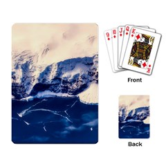 Antarctica Mountains Sunrise Snow Playing Card