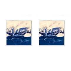 Antarctica Mountains Sunrise Snow Cufflinks (Square)
