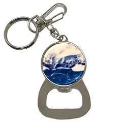 Antarctica Mountains Sunrise Snow Button Necklaces