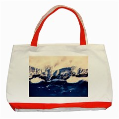 Antarctica Mountains Sunrise Snow Classic Tote Bag (red) by BangZart