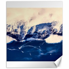 Antarctica Mountains Sunrise Snow Canvas 8  x 10