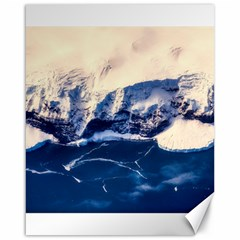 Antarctica Mountains Sunrise Snow Canvas 16  x 20