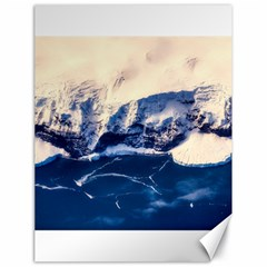 Antarctica Mountains Sunrise Snow Canvas 18  x 24