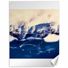 Antarctica Mountains Sunrise Snow Canvas 36  x 48