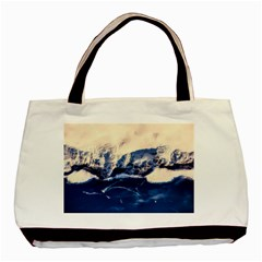 Antarctica Mountains Sunrise Snow Basic Tote Bag (Two Sides)