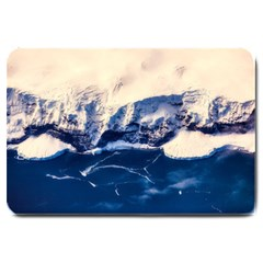 Antarctica Mountains Sunrise Snow Large Doormat