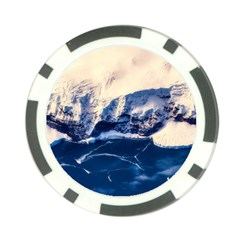Antarctica Mountains Sunrise Snow Poker Chip Card Guard
