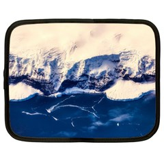 Antarctica Mountains Sunrise Snow Netbook Case (Large)