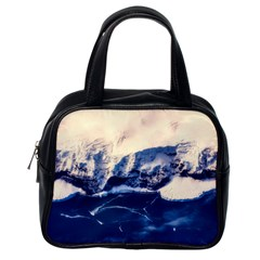 Antarctica Mountains Sunrise Snow Classic Handbags (One Side)