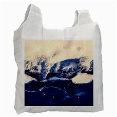 Antarctica Mountains Sunrise Snow Recycle Bag (One Side)