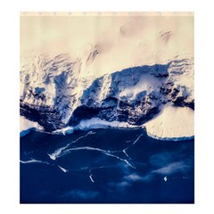 Antarctica Mountains Sunrise Snow Shower Curtain 66  x 72  (Large)