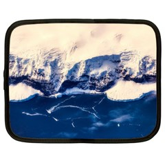 Antarctica Mountains Sunrise Snow Netbook Case (XL)