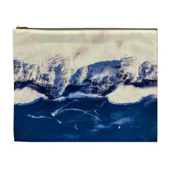 Antarctica Mountains Sunrise Snow Cosmetic Bag (XL)