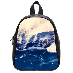 Antarctica Mountains Sunrise Snow School Bag (Small)
