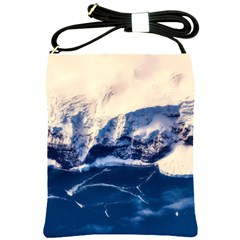 Antarctica Mountains Sunrise Snow Shoulder Sling Bags