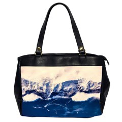 Antarctica Mountains Sunrise Snow Office Handbags (2 Sides)  by BangZart
