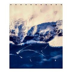Antarctica Mountains Sunrise Snow Shower Curtain 60  x 72  (Medium)