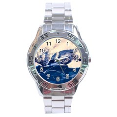 Antarctica Mountains Sunrise Snow Stainless Steel Analogue Watch