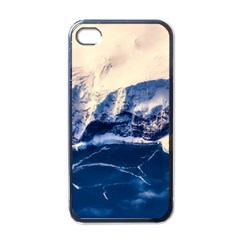 Antarctica Mountains Sunrise Snow Apple iPhone 4 Case (Black)