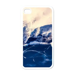 Antarctica Mountains Sunrise Snow Apple iPhone 4 Case (White)