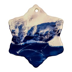 Antarctica Mountains Sunrise Snow Ornament (Snowflake)