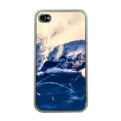 Antarctica Mountains Sunrise Snow Apple iPhone 4 Case (Clear)