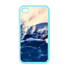 Antarctica Mountains Sunrise Snow Apple iPhone 4 Case (Color)