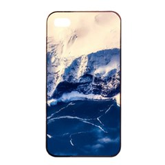 Antarctica Mountains Sunrise Snow Apple iPhone 4/4s Seamless Case (Black)