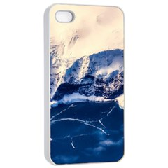 Antarctica Mountains Sunrise Snow Apple iPhone 4/4s Seamless Case (White)
